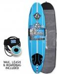 California Board Company Scott Burke Ninety Soft Surfboard Package 7ft 6 - Blue