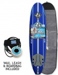 California Board Company Scott Burke Ninety Six Soft Surfboard 8ft 0 Package - Navy