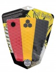 Channel Islands Soli Bailey surfboard tail pad - Red/Yellow/Black