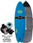 Surfworx Banshee Hybrid soft surfboard package 6ft 0 - Blue