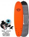Surfworx Base Mini Mal soft surfboard package 7ft 0 - Orange