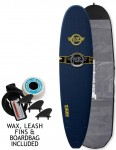 Surfworx Hellcat Mini Mal soft surfboard package 8ft 0 - Midnight Blue