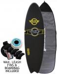 Surfworx Ribeye Hybrid soft surfboard package 6ft 4 - Black
