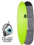 Torq Fun Soft & Hard surfboard package 7ft 6 - Green