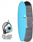 Torq Longboard Surfboard Package 9ft 0 - Blue/Pinline