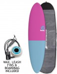 Torq Mod Fun surfboard 7ft 2 package - Raspberry/Blue Tail