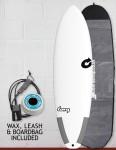 Torq Tec Big Boy 23 surfboard package 7ft 2 - White