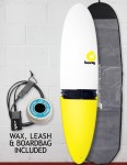 Torq Mod Fun surfboard package 7ft 6 - Yellow Tail Dip