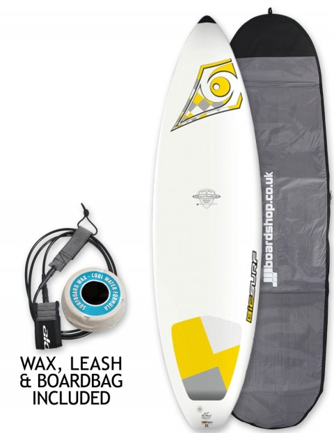 Bic DURA-TEC Shortboard surfboard package 6ft 7 - Yellow