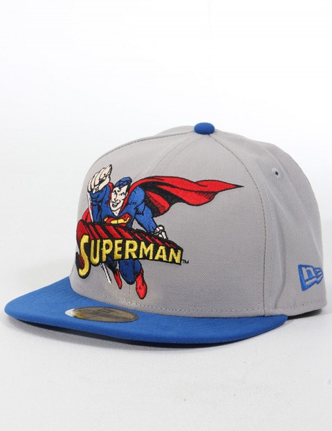 New Era Heroic Title Superman Official 59FIFTY Fitted cap - Grey/Blue