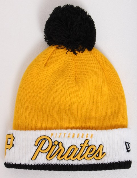 New Era Pom Time 2 MLB Pittsburgh Pirates Bobble cuff beanie - Gold