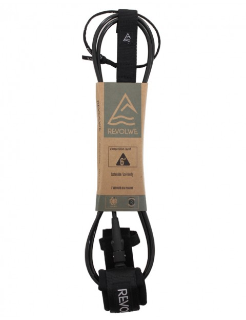 Revolwe Competition surfboard leash 6ft - Black