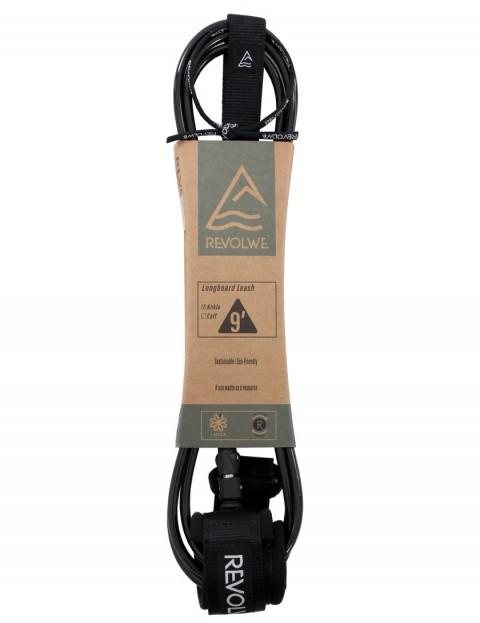 Revolwe Longboard Ankle surfboard leash 9ft - Black