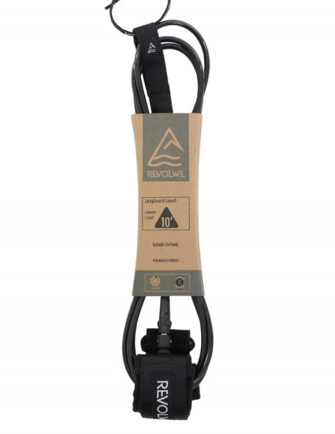 Revolwe Longboard Ankle surfboard leash 10ft - Black