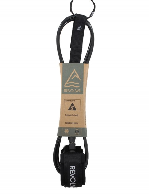 Revolwe Standard surfboard leash 6ft - Black
