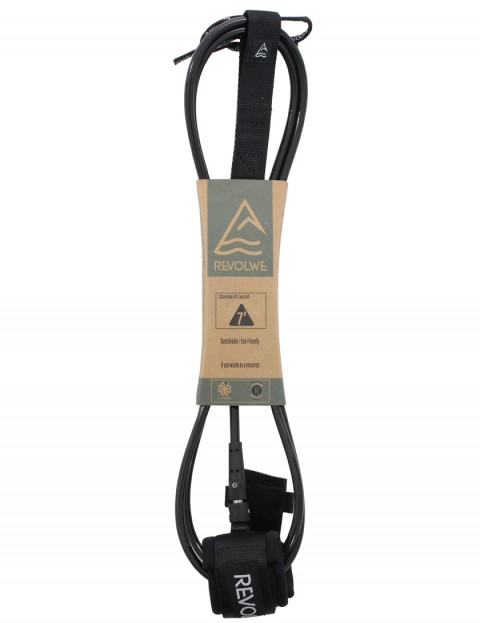 Revolwe Standard surfboard leash 7ft - Black