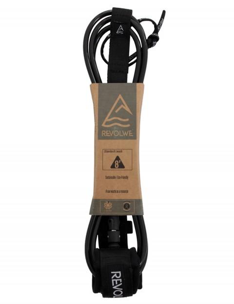 Revolwe Standard surfboard leash 8ft - Black