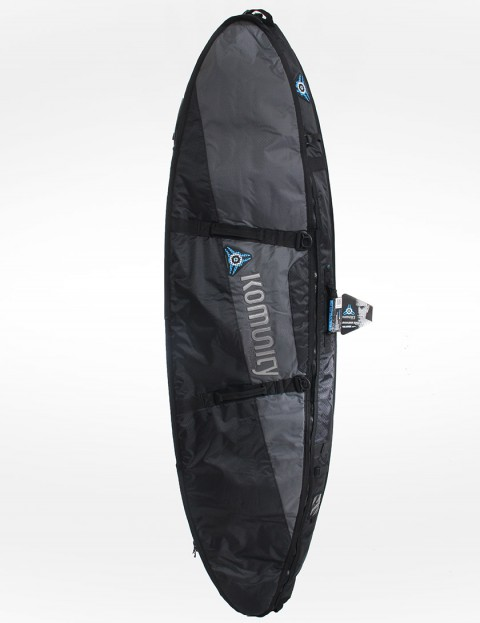 Komunity Project Stormrider Double Lightweight 10mm Surfboard bag 7ft 2 - Black/Grey