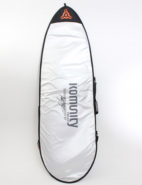 Komunity Project Fish Day Use 5mm Surfboard bag 6ft 6 - Silver