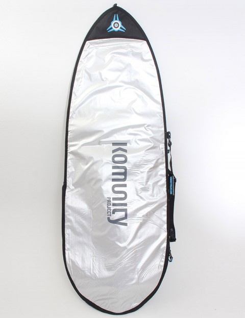 Komunity Project Fish Day Use 5mm Surfboard bag 7ft - Silver