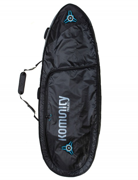 Komunity Project Signature Triple Lightweight 10mm Surfboard bag 6ft 0 - Black