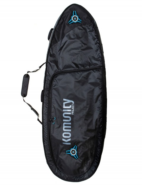 Komunity Project Signature Triple Lightweight 10mm Surfboard bag 6ft 6 - Black