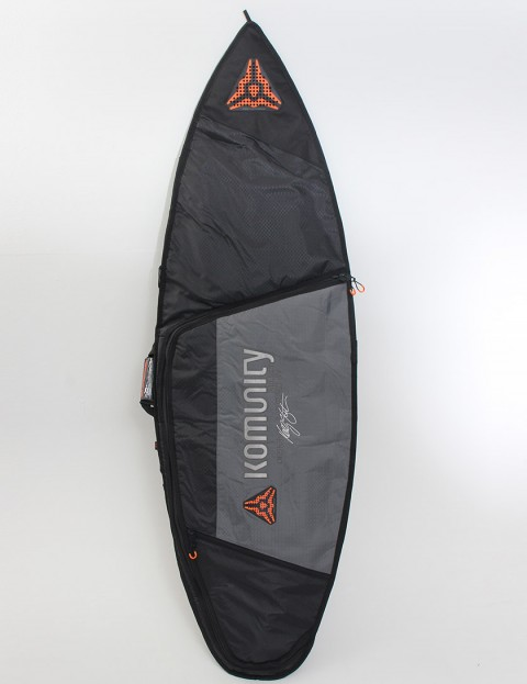 Komunity Project Stormrider Single Lightweight 10mm Surfboard bag 6ft - Black/Grey