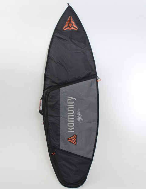 Komunity Project Stormrider Single Lightweight 10mm Surfboard bag 6ft 8 - Black/Grey