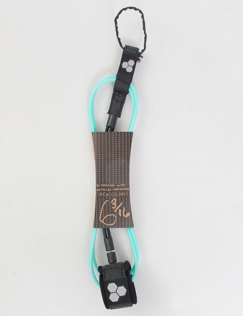 Channel Islands Dane Comp Surf leash 6ft - Turquoise