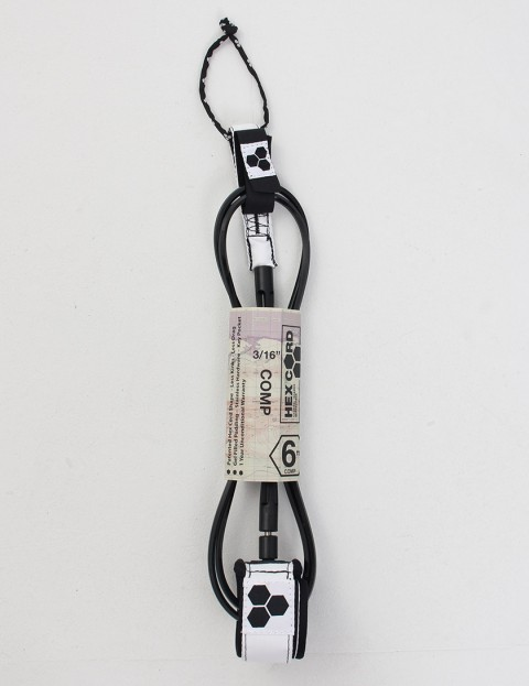 Channel Islands Hex Comp Surf leash 6ft - White/Black