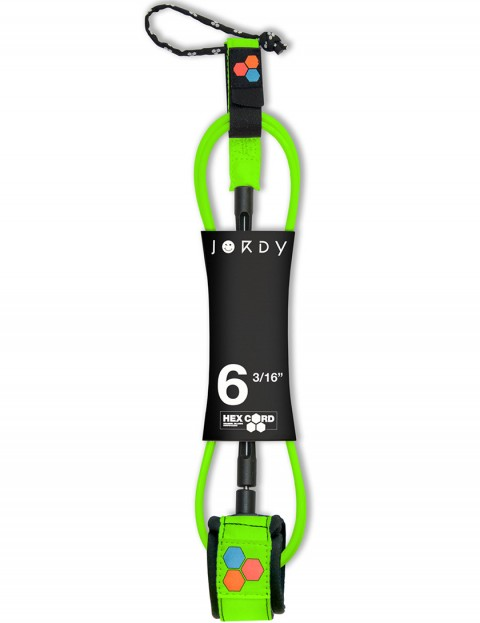 Channel Islands Jordy Hex Comp Surfboard leash 6ft - Fluro Green