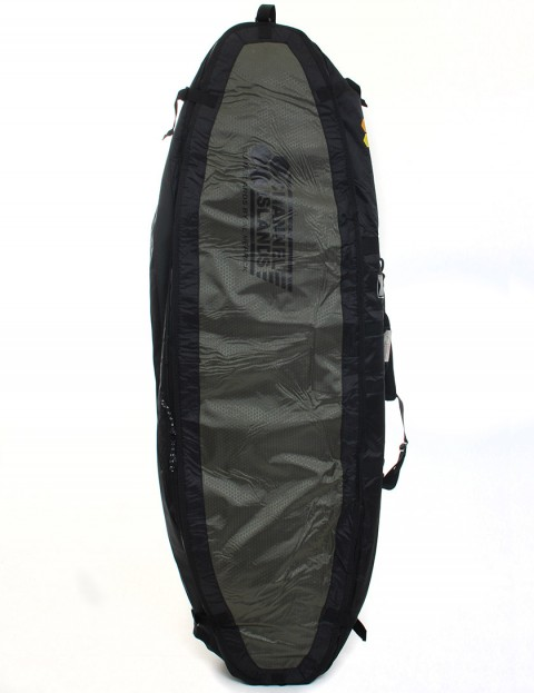 Channel Islands CX4 Travel Light Coffin Quad 10mm Surfboard bag 6ft 6 - Army Green