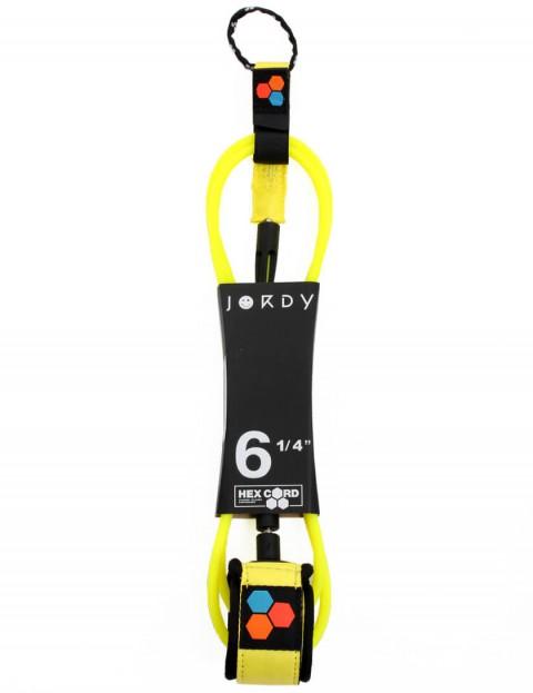 Channel Islands Jordy Standard Hex surfboard leash 6ft - Fluoro Yellow