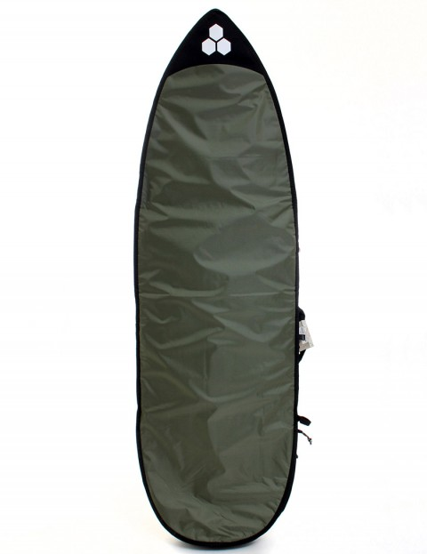 Channel Islands Feather Light 3mm Surfboard bag 5ft 8 - Dark Green/White