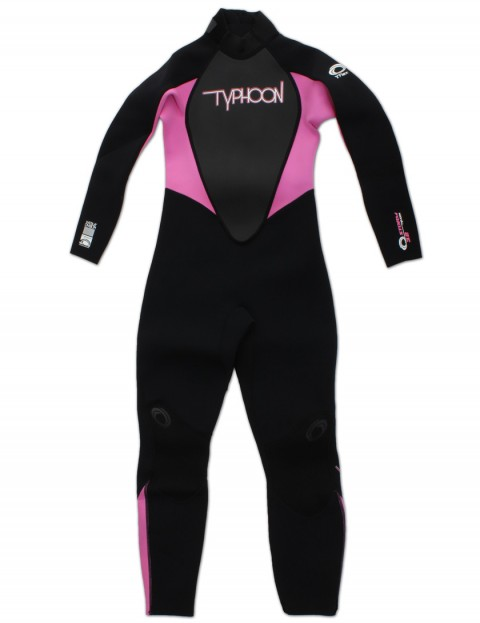Typhoon Girls 3/2mm wetsuit 2016 - Black/Flo Pink