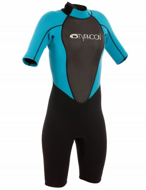 Typhoon Girls Storm Shortie 3/2mm Wetsuit Summer 2015 - Black/Turquoise