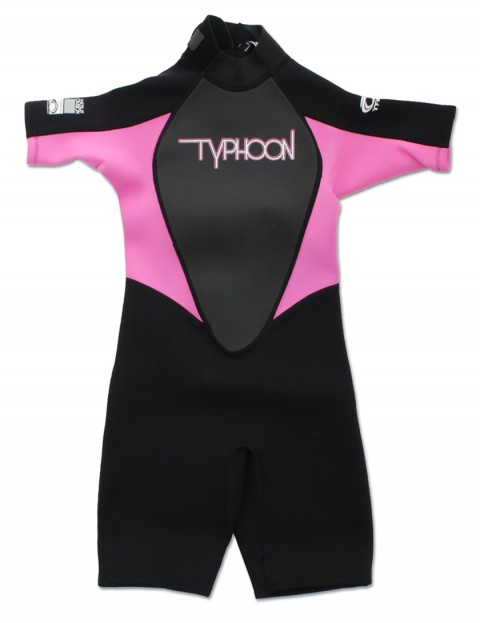 Typhoon Girls Shorty 3/2mm wetsuit 2016 - Black/Flo Pink