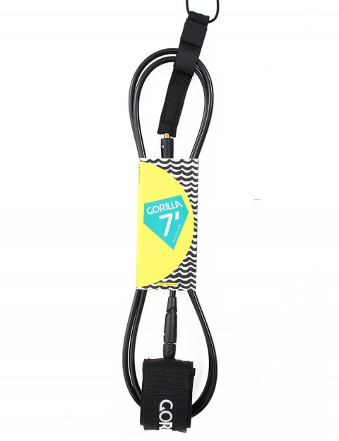 Gorilla Regular Classic surf leash 7ft - Black