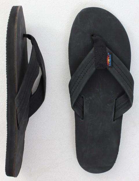 Rainbow Sandals Premier Leather Single Layer Arch Flip flops - Black