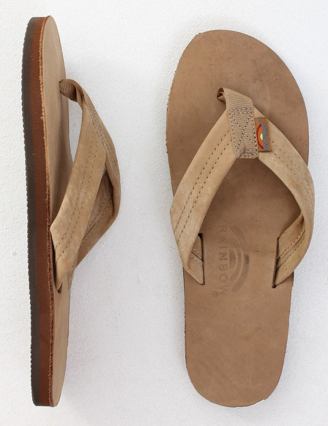 Rainbow Sandals Premier Leather Single Layer Arch Flip flops - Sierra Brown