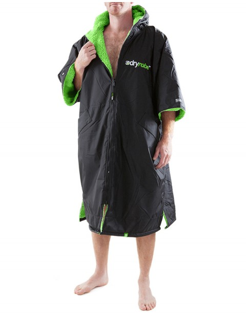 Dryrobe Advance Adult outdoor change robe - Black/Green