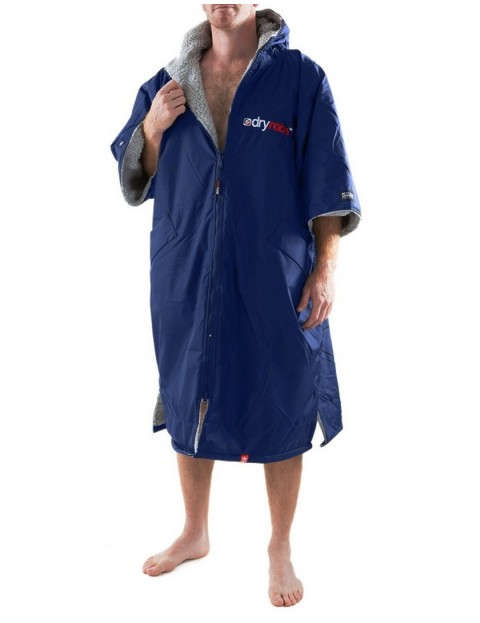 Dryrobe Advance Adult outdoor change robe - Navy/Grey