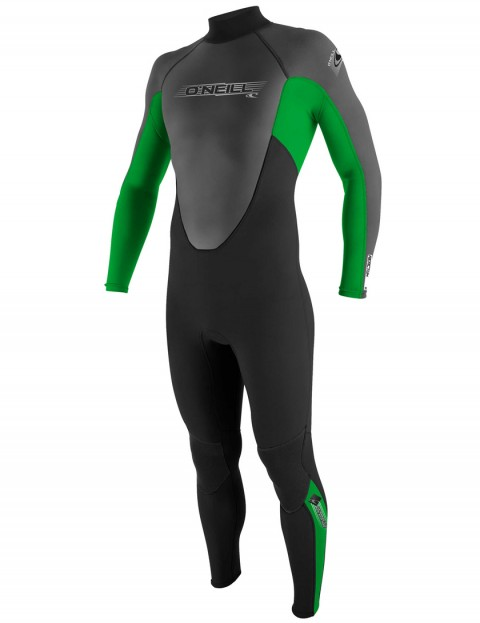 O'Neill Reactor 3/2mm wetsuit 2017 - Black/Clean Green/Graphite