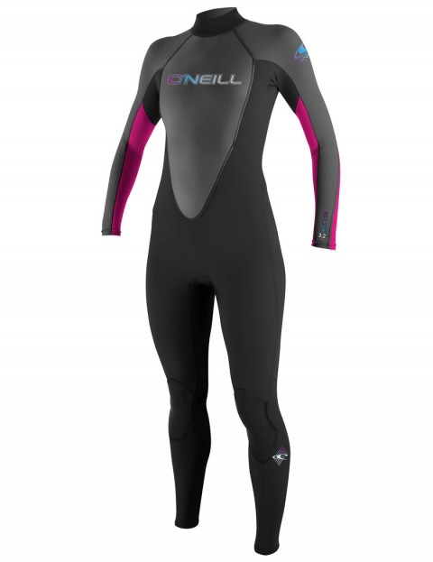 O'Neill Ladies Reactor 3/2mm Wetsuit 2017 - Black/Graph/Berry