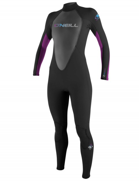 O'Neill Ladies Reactor 3/2mm Wetsuit 2017 - Black/Black/UV