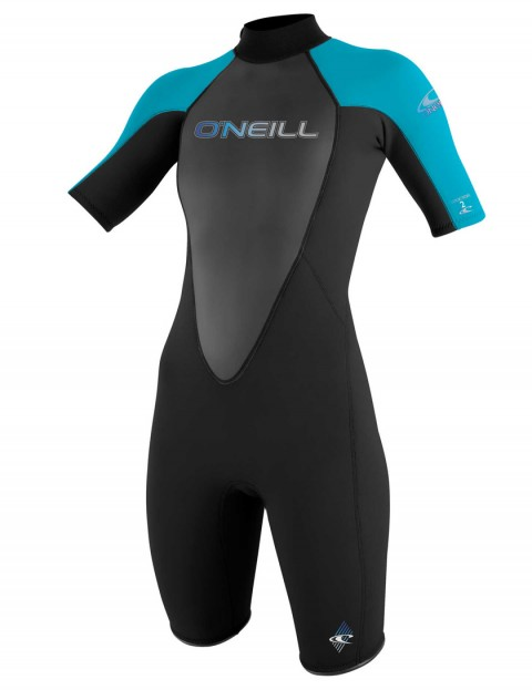 O'Neill Ladies Reactor Shorty 2mm Wetsuit 2017 - Black/Turquoise/Black