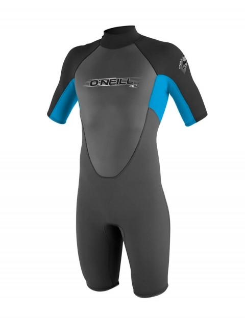 O'Neill Boys Reactor Shorty 2mm Wetsuit 2016 - Graphite/Tahiti/Black