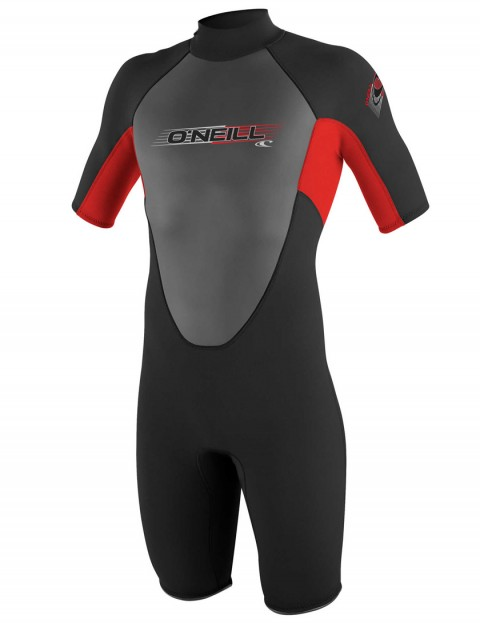 O'Neill Boys Reactor Shorty 2mm wetsuit 2017 - Black/Red/Black