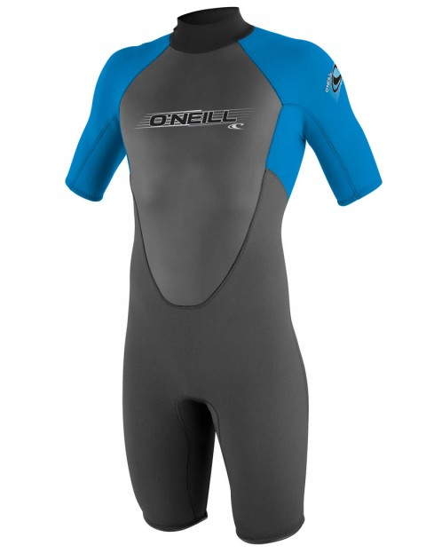 O'Neill Boys Reactor Shorty 2mm wetsuit 2017 - Graphite/Brite Blue/Brite Blue