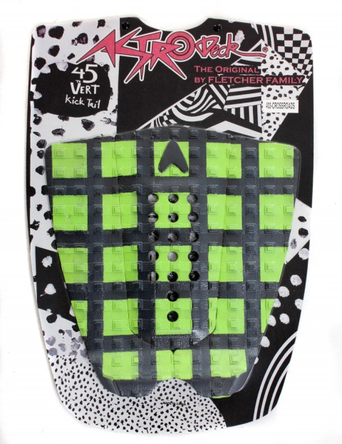Astrodeck Crossroads Surfboard Tail Pad - Black/Green